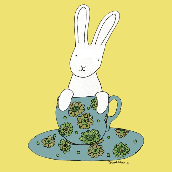 TShirtGifter presents: Bunny in a teacup