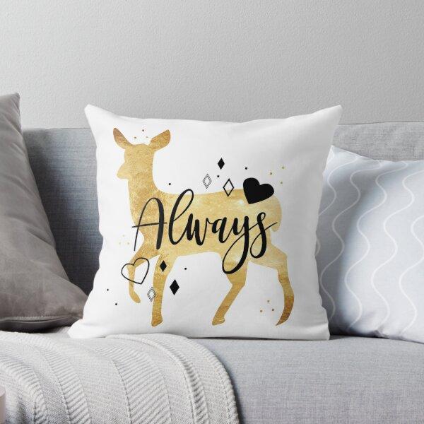 Always love doe Throw Pillow