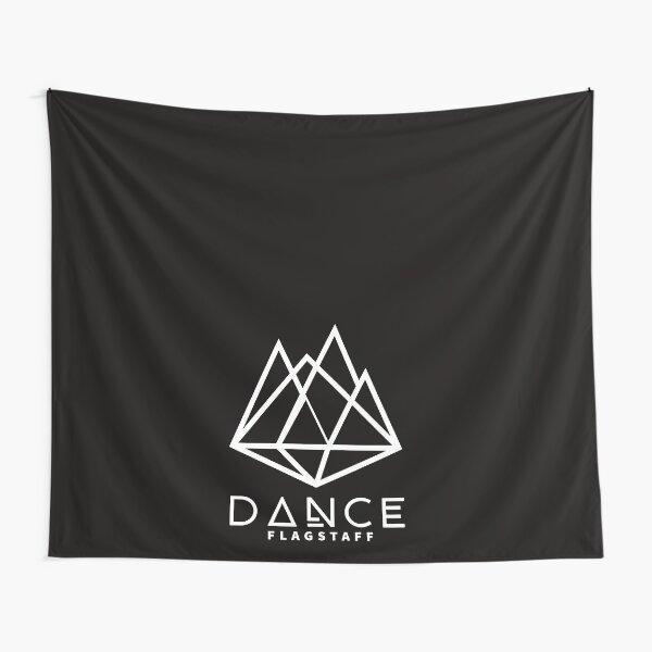 Dance Flagstaff White on Black Diamond Mountains Logo Tapestry