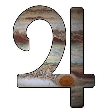 Jupiter Astrological Symbol by bigbadbear