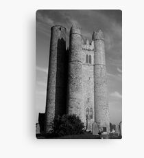 Lusk Round Tower B&W Metal Print
