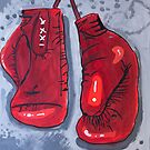 'Fight Gloves' by Lachlan Begg by Peter Evans Art