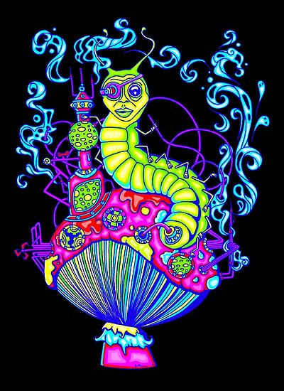 Hooka Smoking Caterpillar Glow by ogfx