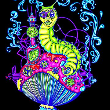 Hooka Smoking Caterpillar Glow by ogfx