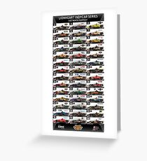 Lionheart IndyCar Series 2018, Pre-Race Indy 500 Spotters Guide Art Greeting Card