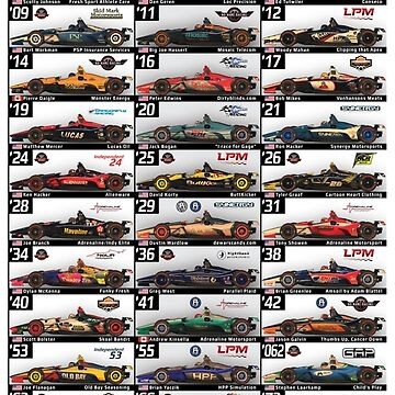 Lionheart IndyCar Series 2018, Pre-Race Indy 500 Spotters Guide Art by CartoonHeart