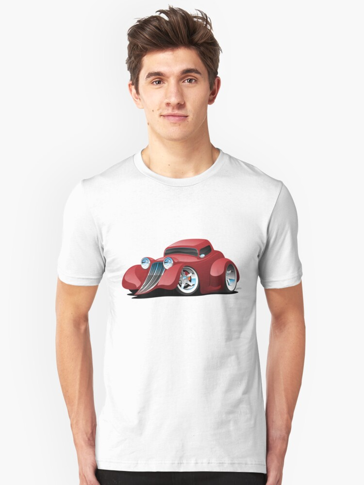 Alternate view of Red Hot Rod Restomod Custom Coupe Slim Fit T-Shirt