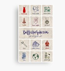 Battlestar Galactica - Minimalist Poster Canvas Print