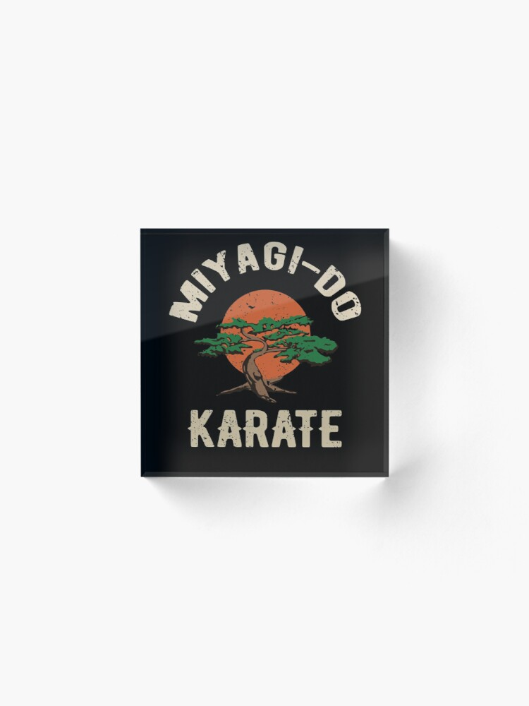 Alternative Ansicht von Miyagi tun Karate-Distress-T-Shirt Acrylblock