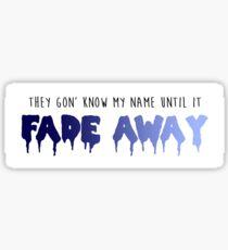 Logic - Fade Away Sticker