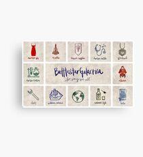 Battlestar Galactica - Minimalist Poster 2 Canvas Print