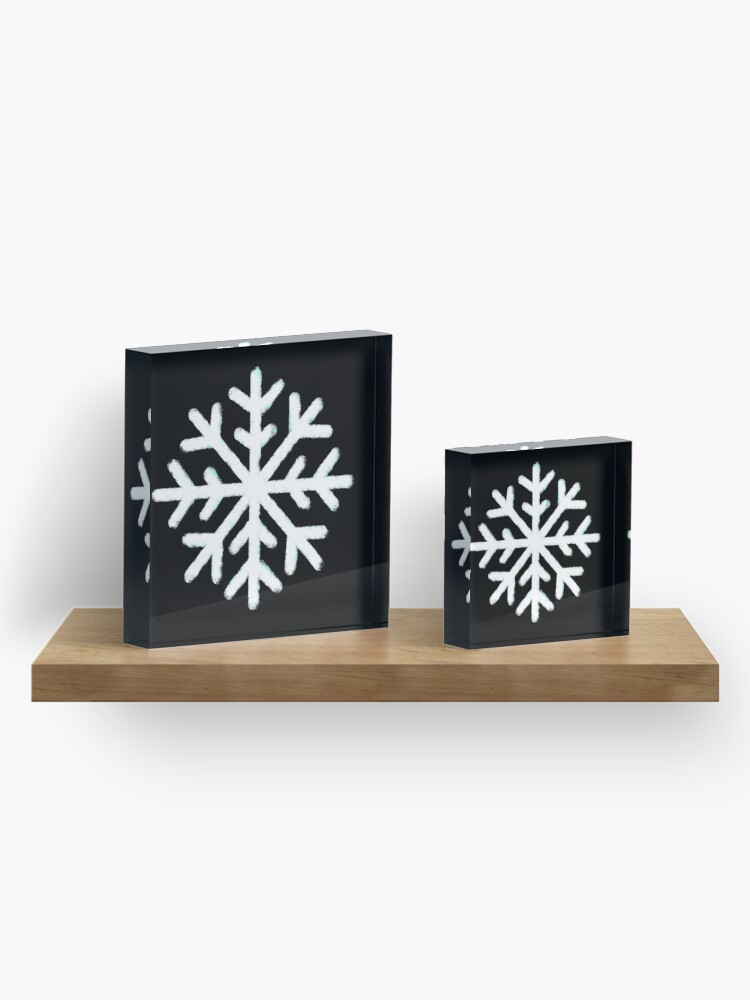 Alternative Ansicht von Weiße Schneeflocke Acrylblock