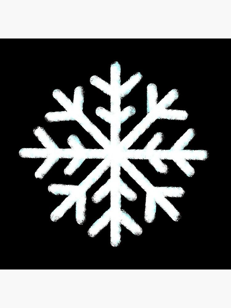Weiße Schneeflocke von graspingbook583