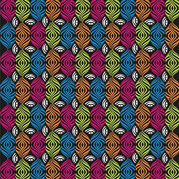 Illusion of the eyes #pattern by mitalim