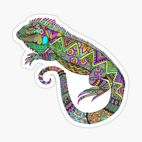 Electric Iguana Sticker