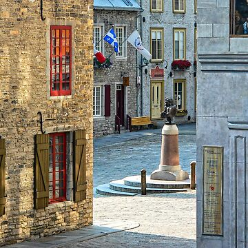 Rue Sous-le-Fort And Louis XIV Monument, Old Quebec City by Photograph2u