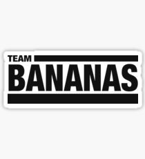 Team Bananas (Black) Sticker