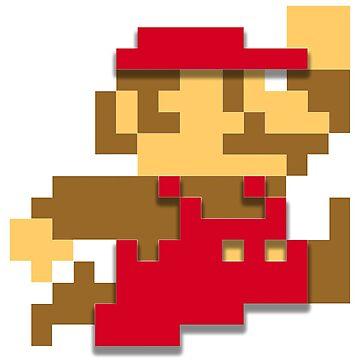 Minimalist 8-Bit Mario by SpaghettiFarmer