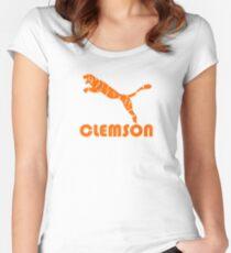 Clemson Tiger bedrückt Tailliertes Rundhals-Shirt