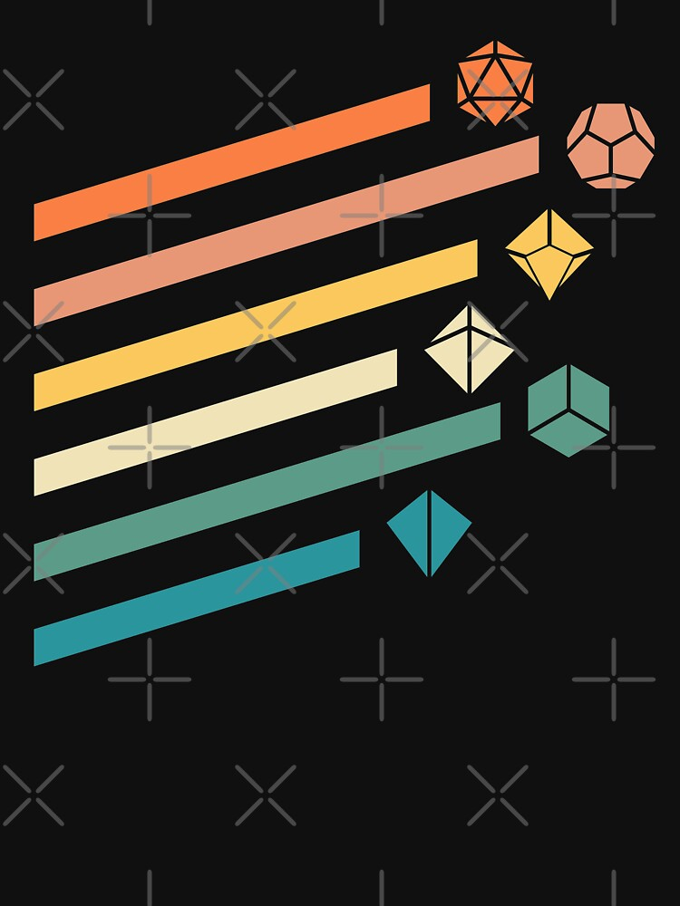 Retro Rainbow Polyhedral Dice Set Colors Juegos de rol de mesa de pixeptional