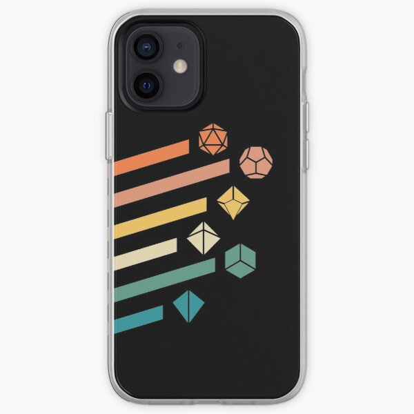 Retro Rainbow Polyhedral Dice Set Colors Tabletop RPG iPhone Soft Case