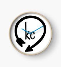 Kansas City Western Auto Design en noir Horloge