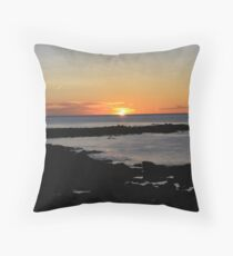 Rye Beach Sunrise Throw Pillow