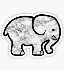 Marble Elephant Stickers Redbubble