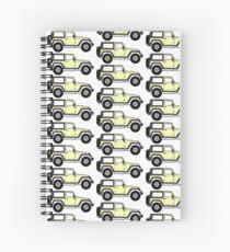 Pastell Gelber Jeep Spiralblock