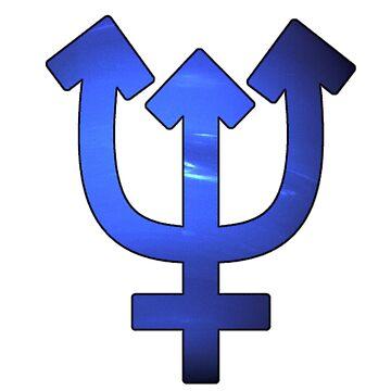 Neptune Astrological Symbol by bigbadbear