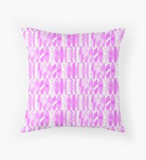 Bright Pink Colored Waikiki Surfboards  Throw Pillow