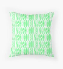 Bright Lime Green Colored Waikiki Surfboards  Throw Pillow