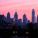 """""""City of Brotherly Sunsets"""" by elombowmanart"""
