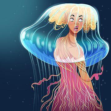 Jellyfish mermaid by mustashleigh