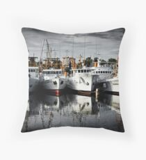Pearl Boats Throw Pillow