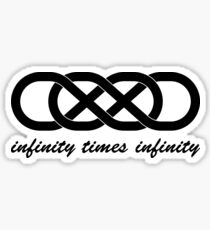 Tatuaje Doble Infinito Revenge doble infinito: pegatinas   redbubble