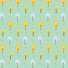 Cute Forest Trees by Claudia Ramos