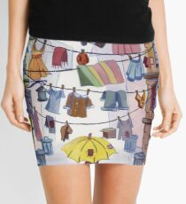 Clotheslines Mini Skirt