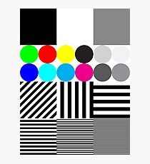 Extreme tone test pattern with colour Photographic Print