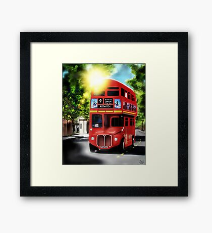 Route-Master, Red, City of London Antique Transport Framed Print