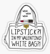 7976825990cd lipstick in my Valentino white bag  Sticker. Lipstick ! ! Sticker