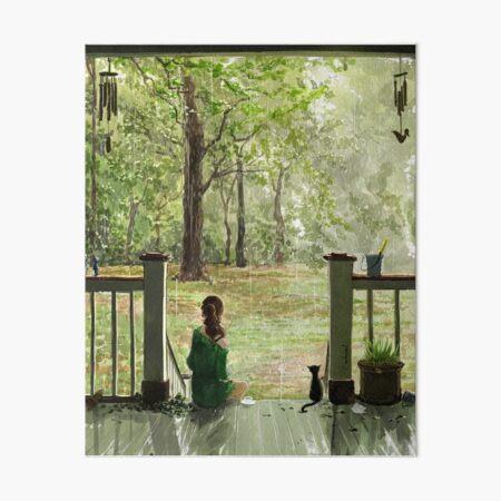 gentle rain Art Board Print