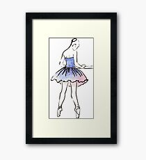 ballerina figure, watercolor illustration Framed Print