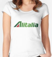 Alitalia Logo Women's Fitted Scoop T-Shirt