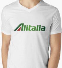 Alitalia Logo Men's V-Neck T-Shirt