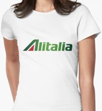 Alitalia Logo Women's Fitted T-Shirt