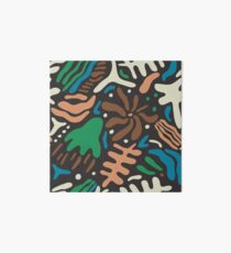 Abstract tropic leaves modern pattern Art Board
