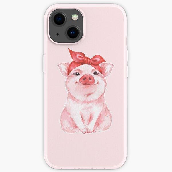 Piggy in red iPhone Soft Case