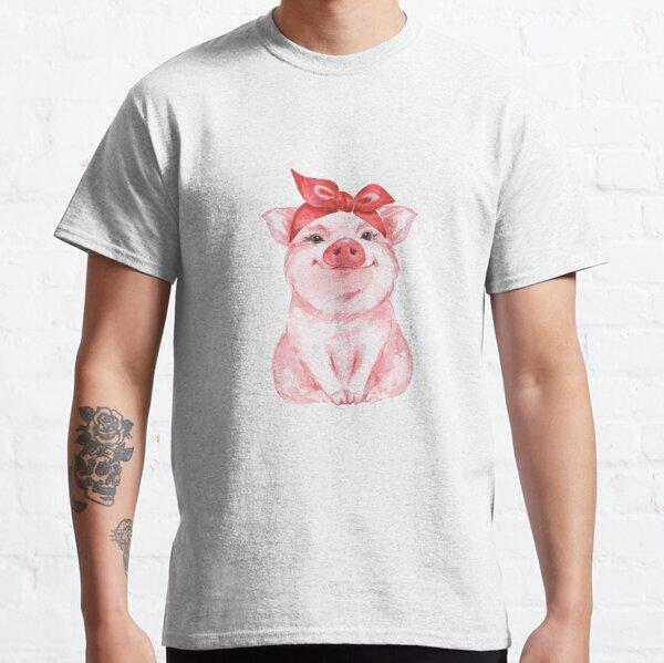 Piggy in red Classic T-Shirt