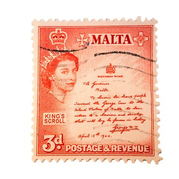Maltese Stamp  by hawkie